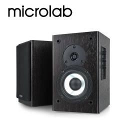 2 monitores de áudio microlab b72 ativo 24w rms