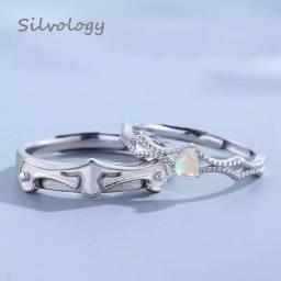 Anéis de casamento,princesa e cavaleiro