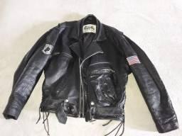 Legítima jaqueta americana de couro