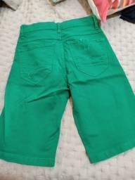 Bermuda jeans verde
