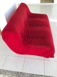 Sofá vermelho 3 lugares