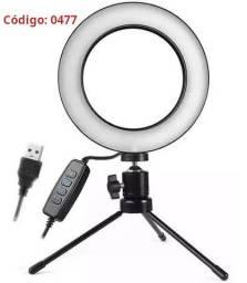 COD: 0477 Iluminador De Led Com Tripe Ring Light Usb 16cm (Entrega gratis)