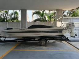Lancha motorboat 18 pés oportunidade!!