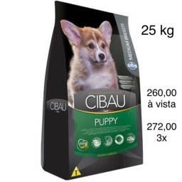 Ração Cibau Cães FILHOTES Raças Médias 25 kg