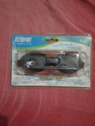 Óculos de natação transparente com protetor de ouvido  tamanho unico