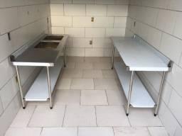 Mesa bancada em inox entrega gratis