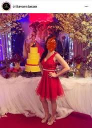 Vestido Curto de Festa Vermelho - Marca Oittava Estação