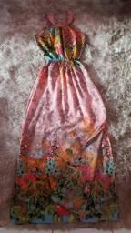 Lindo Vestido Longo Florido PRA VENDER HOJE 35,00