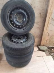 Jogo roda 13 fiat palio uno com pneus