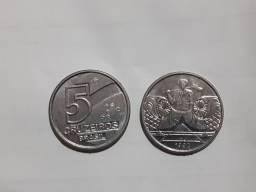 2 Moedas 5 Cruzeiros 1992