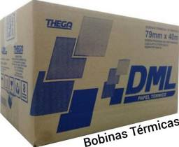 Bobina Térmica para impressoras fiscais e não fiscais: padrão 80x40 da Thega