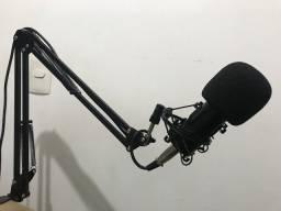 Kit Microfone Estúdio BM800 Pop Filter Aranha e Braço Articulado GT813