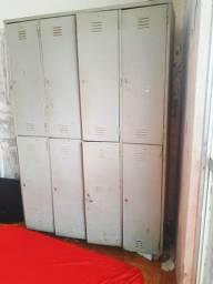 Todo aço armário de 8 portas