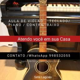 AULA DE TECLADO VIOLAO PIANO ATENDO EM SUA CASA