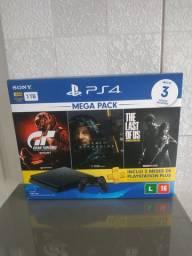 Playstation 4 slim 1 tb novo lacrado com 3 jogos