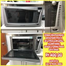 Microondas brastemp 38l com grill