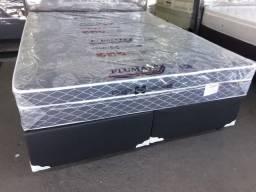 Cama Box + Colchao Sonata Queen Size 158x198 A Pronta Entrega