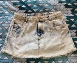 Short saia jeans Infantil