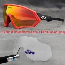 Óculos Esportivo P/ Ciclismo lentes Espelhada e Fotocrômica