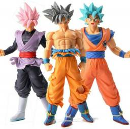 Goku 3 Peças, Black / Furia / Blue, Dragon Ball Action Figure