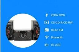 Ótimo microsistem LG Bluetooth controlado por celular