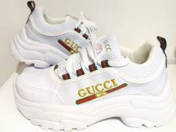 Tênis Branco Gucci