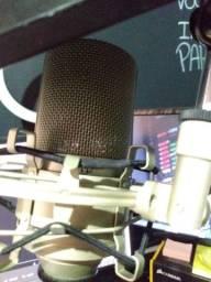 Microfone condensador MXL 990 + braço articulado+ pop filter+ cabo Whirlwind 15 metros