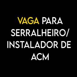 Vaga Serralheiro / Instalador de ACM