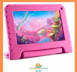 R$ 449 Tablet Infantil Multilaser Original Android 16GB com Case Emborrachada