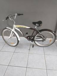 Bicicleta Blitz Beach Cruiser Mistral 26 6 Marchas - Marrom e branco