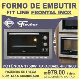 Forno de Embutir Fischer Fit Line  Frontal Inox 44 Litros  - Fischer