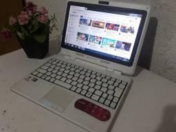 Netbook Com Nota Fiscal 2 Gigas Dual Core Novíssimo Bateria 3 Horas Só 300