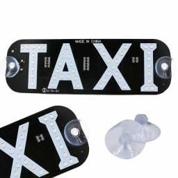 Título do anúncio: Placa Led Letreiro Taxi Entrada Isqueiro Veicular - Loja Natan Abreu