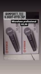 Microfone profissional com fio 80,00 reais frete grátis  entrega a domicílio