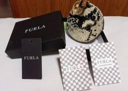Porta Moeda Em Couro Animal Print Cobra Furla