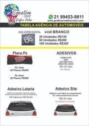 Adesivos para carros - Agência de Automóveis - Material Gráfico