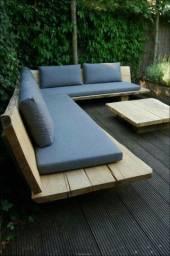 sofás e poltronas para piscinas e Jardim com tecido lmpermeabisante