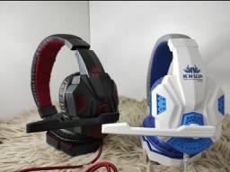 Headset para games(PC E CELULAR) knup r$180,00