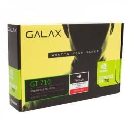 Placa de Vídeo GeForce GT 710 Galax 2GB - NOVA - Loja Física