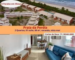 Praia da Peróla: Oportunidade: 02 Quartos, 01 suíte, 68 m², varanda, vista mar, em Ilhéus.