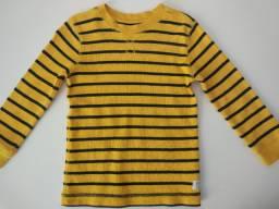 Blusa algodão Carters (3T) listras amarelas