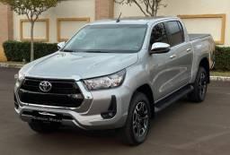 Toyota Hilux SRV Turbo Diesel - 204CV - 2021 -5.100KM - Igual a Zero KM - Modelo Novo