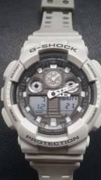 Relógio Casio G Shock GA 100LG 8A Branco