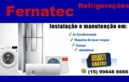 Consertos de máquinas de lavar e refrigeradores