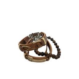 kit pulseiras de presente masculina e feminina