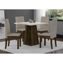 Mesa 4 Cadeiras Cristal