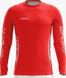 Camisa com proteção solar UV50+ permanente, Proteção térmica, secagem Rápida.