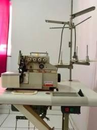 Máquina de costura overlook ponto cadeia