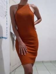 Vestido canelado Tamanho M