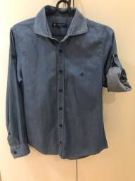 Camisa Femina Jeans por R$ 100,00 veste tamanho 42